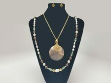 Exclusive Handcrafted Stainless Steel and Natural Stone Set for Women