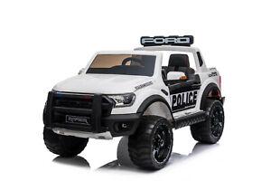 Licensed Ford Raptor Police  Kids Electric Ride On Car 12V New