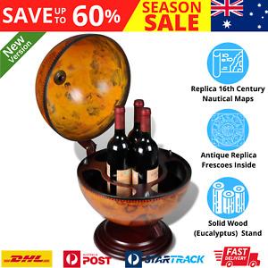 Deluxe Antique Globe Alcohol Cabinet Mini Bar Wine Liquor Storage Table Stand