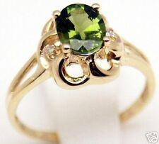 Beautiful Women 14k, Tourmaline Diamond Ring, Sz 6.5