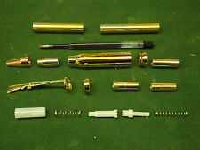 Woodturning BULLET BALL POINT PEN, fare clic su KIT in oro / rame
