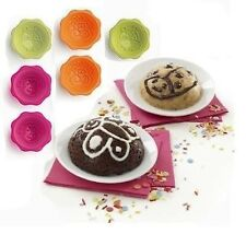 "Lekuè:Deco minicake set ""in the Jungle"" set 6 monoporzione+Decopen"" in silicone-"
