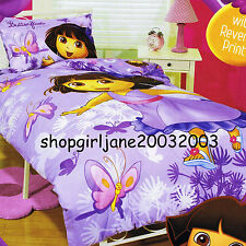 Dora the Explorer How Many Butterflies - Double/Full Bed Quilt Doona Duvet Cover
