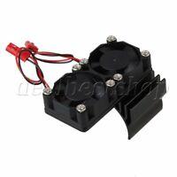 Aluminum 540 550 Motor Heatsink N10111 with 2 Fans for RC 1:10 Car Balck Color