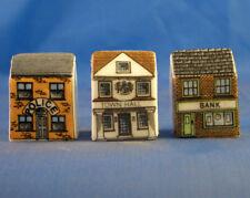 Birchcroft Thimbles -- Set of Three -- Miniature House Shape - Services