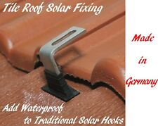 Watertight Flashing Seal for Tile Roof Solar Panel Mounting Fixing Hook 4 Units