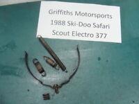 88 1988 84-91 SKI DOO safari scout 377 SKIDOO exhaust springs pipe mount formula