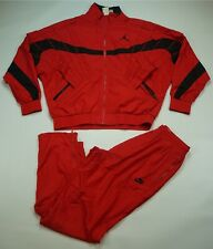 Rare VTG NIKE JORDAN Air Flight Jumpman Track Jacket Pants Suit 80s 90s Red SZ L