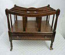 Reproduction Wooden Magazine Rack on castors - 1 drawer | Thames Hospice