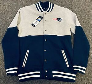 New England Patriots  JACKET YOUTH/BOYS NFL TEAM APPAREL  GREY COTTON Large