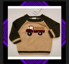 ~NWT 12-18 mos gymboree ANTIQUE TRUCK Cotton pullover SWEATER CARDIGAN~VHTF!