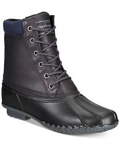 Weatherproof Men Duck Boots Adam2 Size US 13M Black Faux Leather