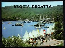 St. Vincent Grenadines 1988 Bequia Regatta Yacht Miniature Sheet Unmounted Mint