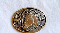 Belt Buckle, Horse,Solid Brass, Award Design Medals Inc, Collectible Accessories