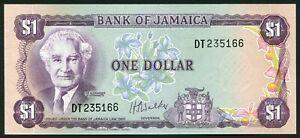 Jamaica 1$ 1976 Sir Alexander Bustamente & Harbor P59b Signature Walker UNC
