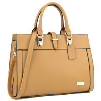 Dasein Women Handbag Faux Leather Satchel Briefcase Tote Bag Medium Purse