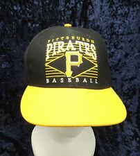 Pittsburg Pirates MLB 6 Panel Black  Trucker Snap Back Hat Cap