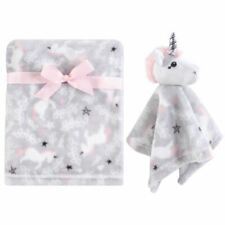 Hudson Baby Girl Plush Blanket and Security Blanket, 2-Piece Set, Whimsical Unic