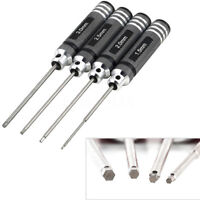 4X Hex Screw Driver Tool For RC Helicopter Plane Transmitter Car Black 1.5mm-3mm