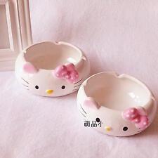 PINK Hello Kitty Ceramic teabag holder tidy ashtray cat ash tray cigarette smoke