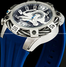 Invicta 27372 Mens Bolt Chronograph Swiss Movt Black Dial Blue Strap 52mm Watch