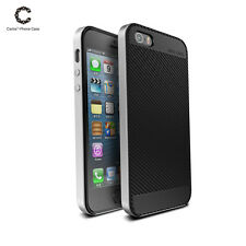 Shockproof Hard Bumper Soft Rubber Hybrid Slim Case Cover For Apple iPhone 5 SE