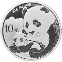 China 10 Yuan 2019 - Panda - Anlagemünze - Silber ST