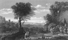 LANDSCAPE WITH SINON BROUGHT PRISONER TO PRIAM. Claude Lorraine 1835 old print