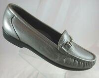 SAS Metro Slip On Loafers Horsebit Pewter Silver Tripad Comfort Womens Sz 7.5 N
