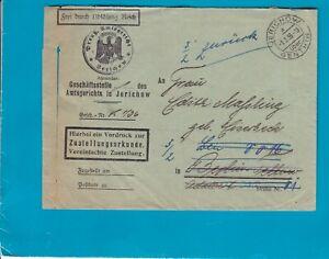 Jerichow - Preuß. Amtsgericht - gelaufener Briefumschlag 1936 - zurück