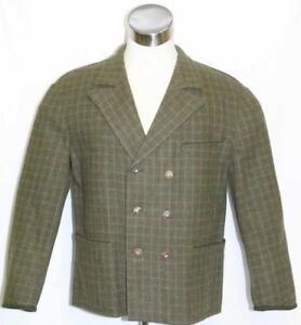 LODENFREY WOOL JACKET ~ GREEN PLAID Men AUSTRIA Sport Golf SUIT Coat L
