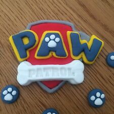 Paw Patrol Edible Cake Topper . Birthday Edible 3D . 5 Free Paw Feet