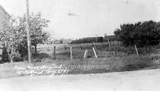 """Photo 1917 Gilford Ontario """"Derailed Train"""""""