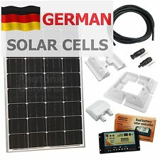 120W 12V dual battery solar panel charging kit for motorhome/camper/caravan/boat