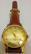 1970s-80s NOS GOLD GENTS WATCH GRANDAD STYLE MANUAL WIND HMT