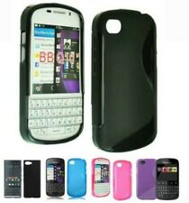 For Blackberry Models Smooth S Line Gel Silicone Case-Slip Grip