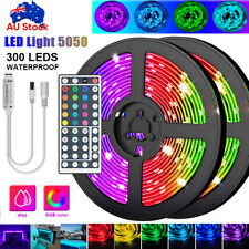 5M 300 LEDS RGB LED STRIP LIGHTS IP65 WATERPROOF 5050 12V + 44 KEY IR CONTROLLER