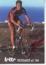 CYCLISME carte cycliste TONY BRACKE équipe LOTTO ISOGLASS 1996 signée