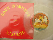 DAVE EDMUNDS GIRLS TALK / BAD IS BAD swan song 19418 clear vinyl N/M...... 45rpm