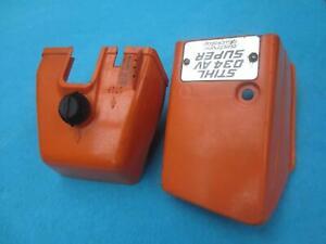 Stihl 034 AV Super (036) Zylinderabdeckung + Vergaser-/ Luftfilterabdeckung