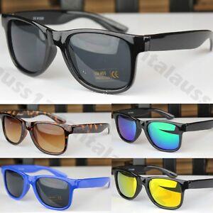 Classic Square Sunglasses Kids Girls Boys Mirror Lenses Plastic Frame UV400