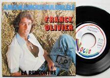 """7"""" 45 FRANCK OLIVIER LA RENCONTRE BARZOTTI 1977 VOGUE BELGIQUE"""