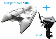 Sunsport ARIB 350 Inflatable Boat and Mariner 20hp EFI Boat Engine Bundle - NEW