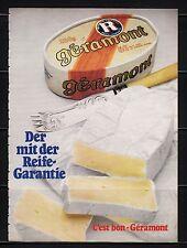 3w630/vecchia pubblicità con loghi di 1983-Gera Mont-della con la maturità-GARANZIA