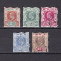 SEYCHELLES 1906, SG# 60-67, CV £20, Wmk Mult Crown CA, part set, MH/Used