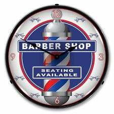 NEW BARBER SHOP RETRO ADVERTISING BACKLIT LIGHTED CLOCK - FREE SHIPPING*