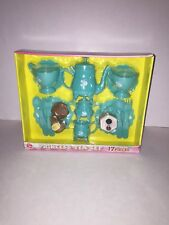 Pretend Play Bluish Green Princess Tea Set-17 Pieces