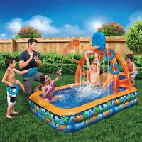 Outdoor Summer Fun Kids Basketball Water Park Center Inflatable Water Pool Slide