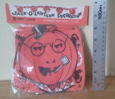 Vintage die cut Halloween 5' pumpkin JackOLantern decoration banner garland SEAL