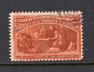 USA 1893 30¢ Columbus - Used - SC# 239  Cats $90.00    No Reserve!